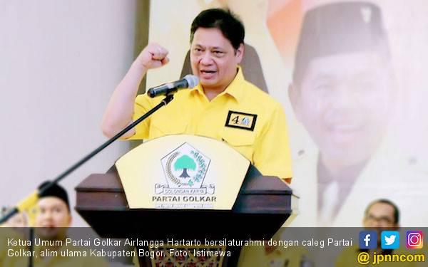 Airlangga Belum Mau Bahas Tambahan Koalisi Pendukung Jokowi - Ma'ruf - JPNN.com