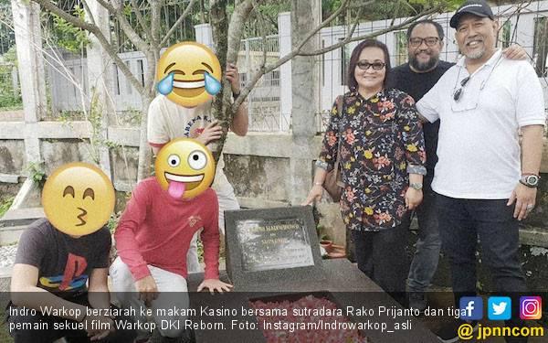 Indro Ziarah ke Makam Kasino, Sekuel Warkop DKI Reborn Bakal Digarap Lagi? - JPNN.com