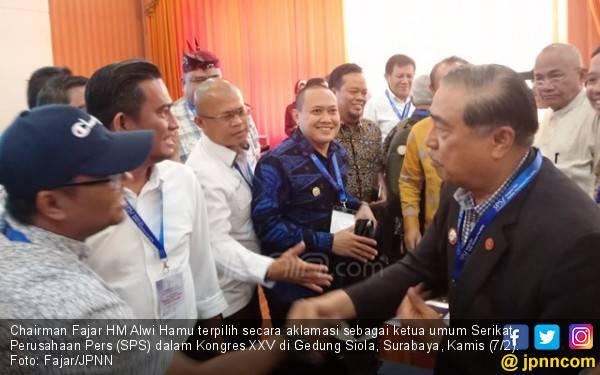 Chairman Fajar HM Alwi Hamu Jadi Ketum SPS 2019-2023 - JPNN.com