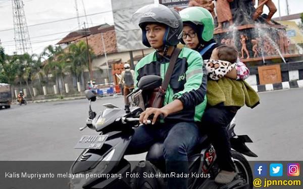 Inspirasi dari Kalis Mupriyanto, Tukang Ojek yang Tak Punya Tangan Kanan - JPNN.com