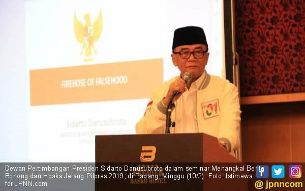 Sidarto Danusubroto: Sebar Hoaks Hanya Ganggu Stabilitas Sosial - JPNN.com