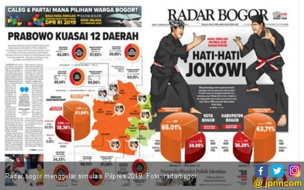 Simulasi Pilpres 2019 di 12 Daerah: Jokowi 38,36 Persen, Prabowo 61,64 - JPNN.com