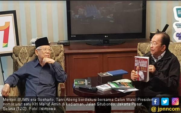 Menteri BUMN era Soeharto: Pemikiran Saya Sama dengan Kiai Ma'ruf Amin - JPNN.com