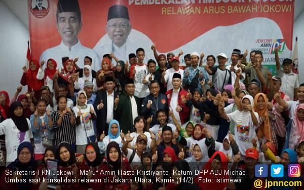 TKN Targetkan Jokowi - Ma'ruf Amin Menang Mutlak di Jakarta Utara - JPNN.com