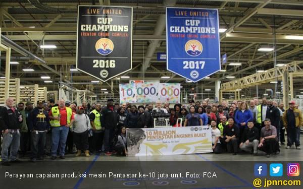 FCA Rayakan Capaian Produksi Mesin Ikonik Pentastar ke 10 Juta Unit - JPNN.com