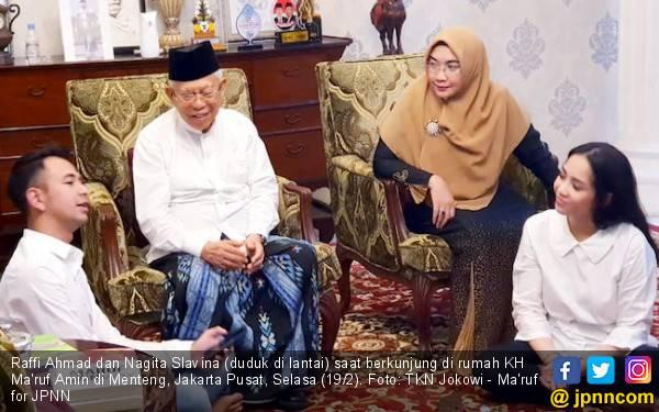 Raffi Ahmad Ajak Nagita & Rafathar Sowan Kiai Ma'ruf, Ini Hasilnya - JPNN.com