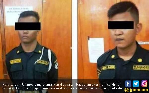 Dua Pria Tewas di Kawasan Kampus, 4 Satpam Unimed Diamankan Polisi - JPNN.com