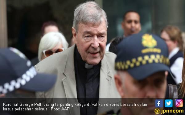 Kardinal George Pell: Enam Tahun Penjara, Seumur Hidup di Daftar Pelaku Kejahatan Seksual - JPNN.com