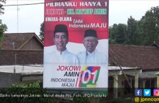 Ada yang Iseng Tulis PKI di Baliho Kampanye Jokowi - Ma'ruf - JPNN.com