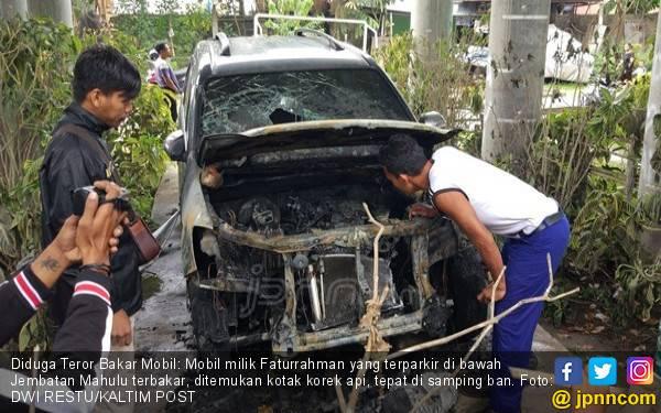 Teror Bakar Mobil Terjadi di Kota Samarinda, Ditemukan Bekas Korek Api - JPNN.com