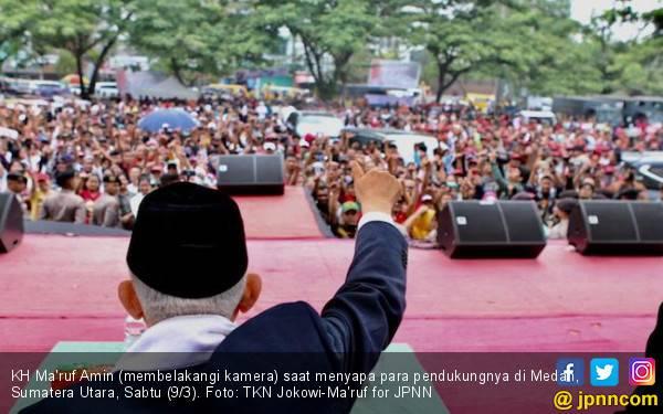 Dongkrak Dukungan di Sumut, Kiai Ma'ruf Jelajahi Medan-Tapanuli - JPNN.com