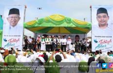 Kiai Ma'ruf & Menantu Jokowi Datang, Warga Padang Sidempuan Tumpah Ruah - JPNN.com