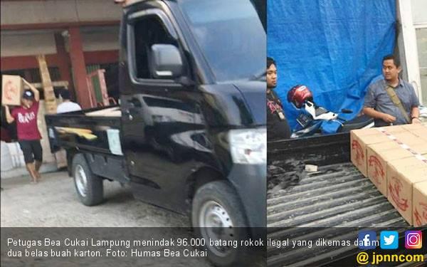 Bea Cukai Lampung Tegah Pengangkutan Rokok Ilegal - JPNN.com