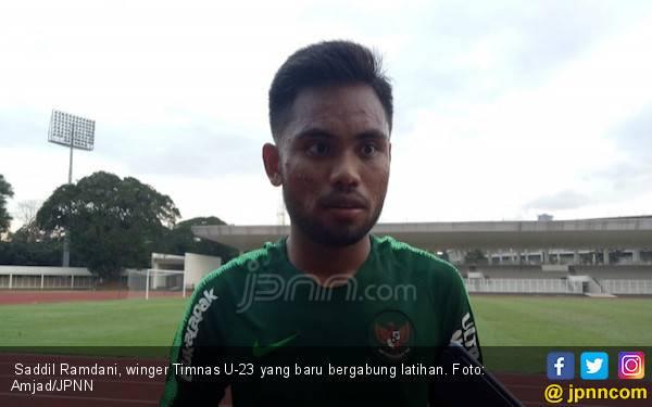 Latihan Perdana di Indonesia, Saddil Ramdani Sempat Sesak Napas - JPNN.com