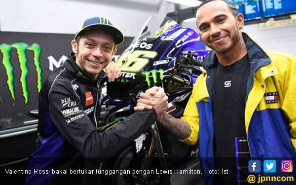 Apa Jadinya Rossi dan Hamilton Bertukar Tunggangan? - JPNN.com