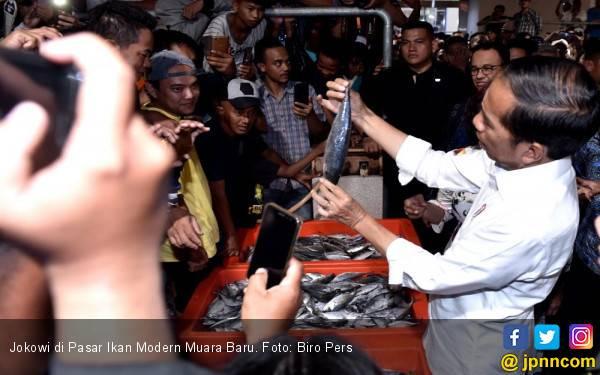Jokowi Banggakan Pasar Ikan Modern Muara Baru - JPNN.com