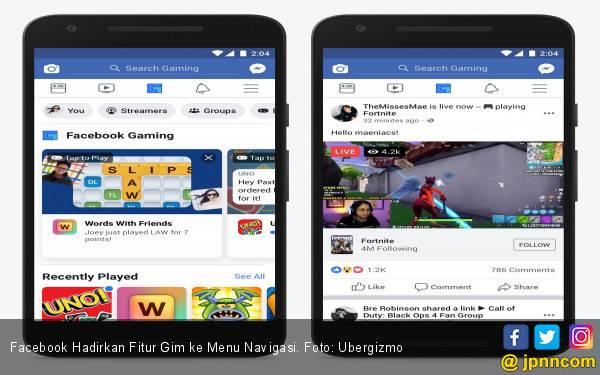 Facebook Hadirkan Fitur Gim ke Menu Navigasi - JPNN.com