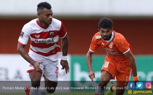 Madura United 1-0 Borneo FC: Pahlawan Itu Bernama David Laly - JPNN.com