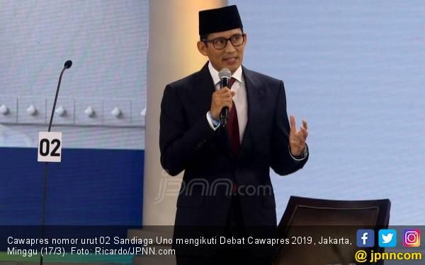 Debat Cawapres: Sandiaga Uno Janji Sejahterakan Guru Honorer - JPNN.com