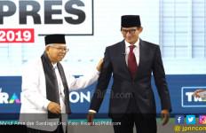 Survei Charta Politika: Ma'ruf Amin Lebih Terkenal dari Sandiaga Uno - JPNN.com