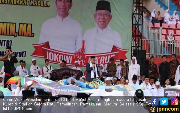 Ma'ruf Amin: Sudah Seharusnya Pamekasan Dukung Saya dan Jokowi - JPNN.com