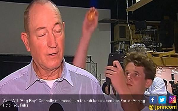 Berita Terbaru Perseteruan Egg Boy Vs Senator Anti-Islam Australia - JPNN.com
