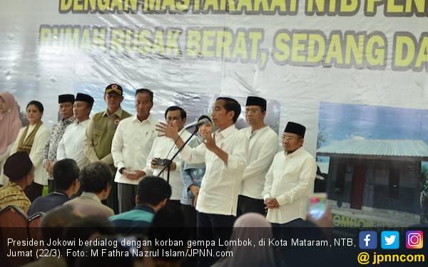 Jokowi: Rp 5,1 Triliun Bantuan Gempa Lombok Sudah Ditransfer - JPNN.com