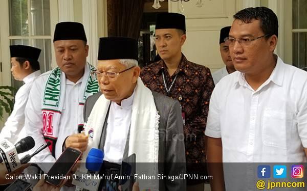 Ma'ruf Amin Sindir Sandi: Jangan Mengeksploitasi NU - JPNN.com