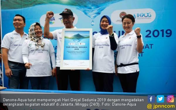 Peringati Hari Ginjal Dunia, Danone - Aqua Gelar Kegiatan Edukatif - JPNN.com