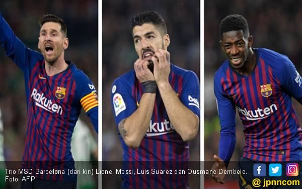 Aduh! Lionel Messi, Luis Suarez dan Ousmane Dembele Cedera - JPNN.com