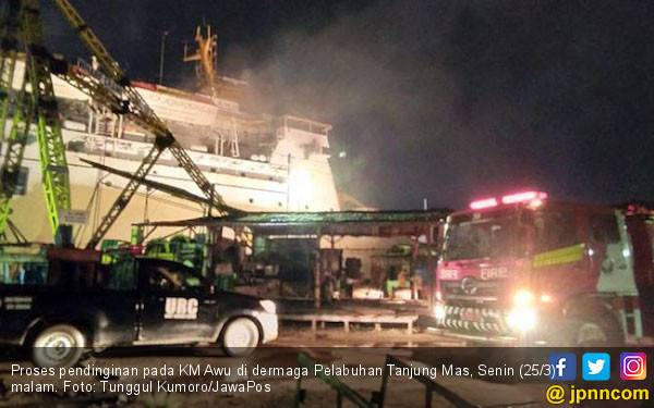 Pelni: Kebakaran KM Awu Sudah Ditanggulangi - JPNN.com