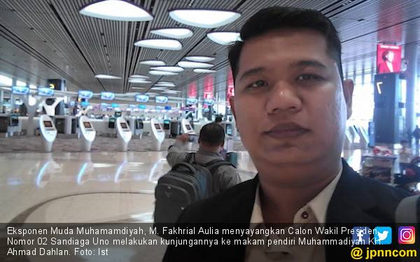 Ziarah ke Makam KH. Ahmad Dahlan, Sandiaga Dikritik Eksponen Muda Muhammadiyah - JPNN.com