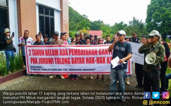 Warga Pemilik Lahan di Jalan Tol Berdemo di Pengadilan, Nih Alasannya - JPNN.com