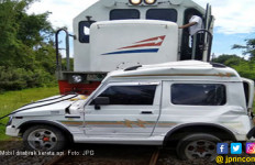 Ditabrak Kereta Api, Mobil Terseret 200 Meter tapi Tuhan Berkehendak Lain - JPNN.com