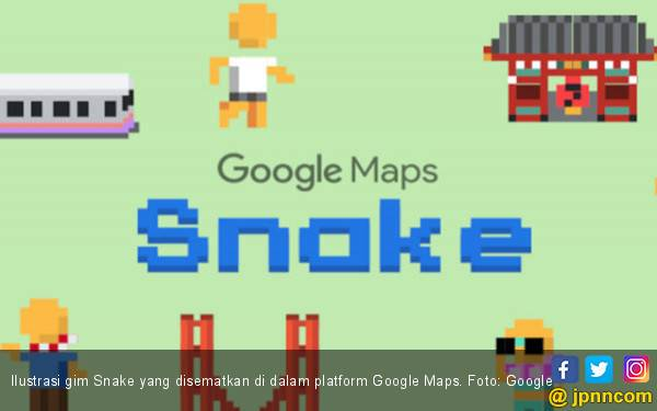 Google Maps Ajak Bernostalgia Melalui Gim Snake - JPNN.com