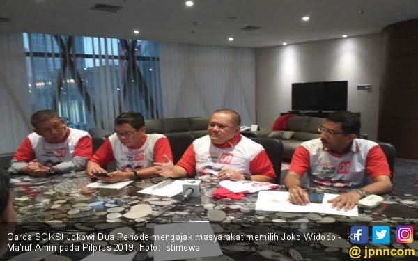 Ketua Garda SOKSI Ajak Masyarakat Coblos Jokowi - KH Ma'ruf Amin - JPNN.com