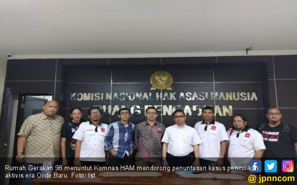 Tagih Penuntasan Kasus Penculikan Aktivis, Rumah Gerakan 98 Sambangi Komnas HAM - JPNN.com