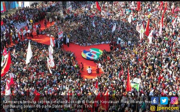 Jokowi Janji Bangun Jembatan Batam - Bintan Saat Berkampanye di Batam - JPNN.com