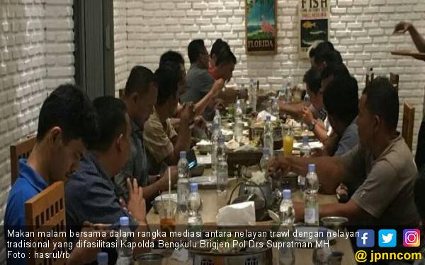 Nelayan Trawl dan Nelayan Tradisional Akhirnya Dimediasi Kapolda Bengkulu - JPNN.com
