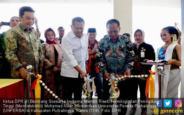 Ketua DPR dan Menristekdikti Resmikan Universitas Perwira Purbalingga - JPNN.com