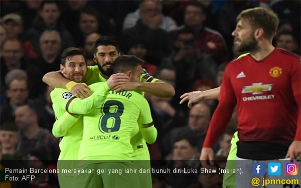 Aksi Bunuh Diri Warnai Kemenangan Barcelona Atas Manchester United - JPNN.com