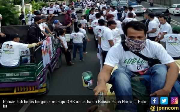 Ribuan Kuli Beras Ekspresikan Dukungan untuk Jokowi di Konser Putih Bersatu - JPNN.com