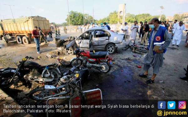 Taliban Serang Pasar Buah Langganan Warga Syiah, Banjir Darah - JPNN.com