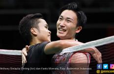 Setelah 1 Jam 30 Menit, Momota Singkirkan Ginting di Japan Open 2019 - JPNN.com