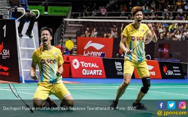 Ganda Campuran Thailand Ukir Rekor Hebat di Singapore Open 2019 - JPNN.com