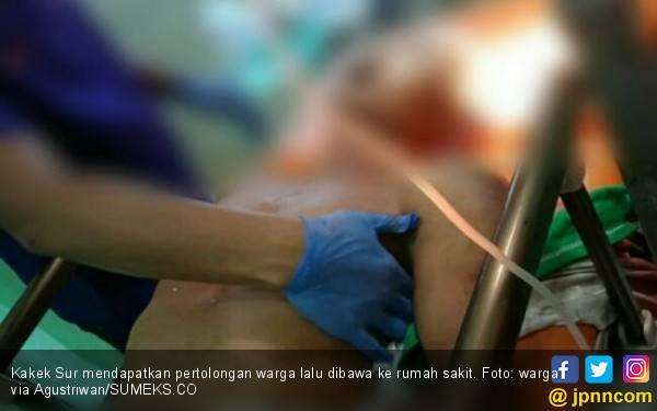 Kakek 63 Tahun Ditemukan Bersimbah Darah di Jalan, Sepeda Motor Raib - JPNN.com