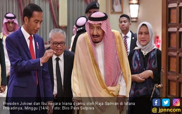 Bertemu Raja Salman, Jokowi dan Ibu Iriana Dijamu Makanan Khas Timur Tengah - JPNN.com