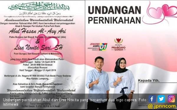 Pendukung Jokowi Bakal Menikah dengan Fan Prabowo, Undangannya jadi Viral - JPNN.com