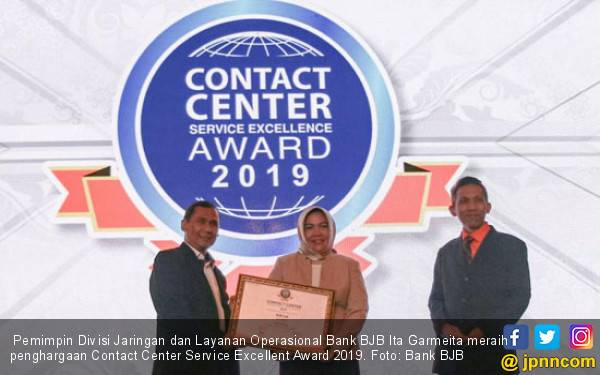 Bank BJB Raih Penghargaan Contact Center Service Excellent Award 2019 - JPNN.com