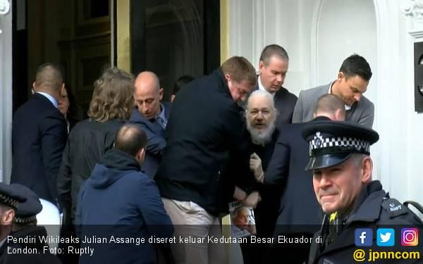 Pendiri Wikilieaks Jadikan Kedubes Ekuador Markas Spionase Internasional - JPNN.com